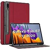 ProCase Funda para Samsung Galaxy Tab S7 11' 2020 SM-T870 / T875 / T878, Smart Cover Carcasa Delgada Tipo Libro para 2020 11 Pulgadas Galaxy Tab S7 Tablet SM-T870 T875 T878 -Rojo
