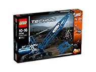 Features Power Functions motorized boom, winch, superstructure and caterpillar tracks Also features an opening claw, tilting cab, extendable boom, extensive cabling and a realistic exhaust pipe and ventilation grid Check out the cool blue and white c...