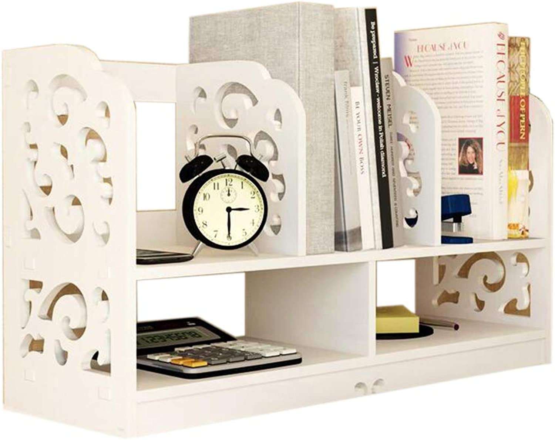 JCAFA Shelves Desktop Bookshelf Simple Rack DIY Desktop Storage Rack Student Combination Bookcase, Easy to Assemble