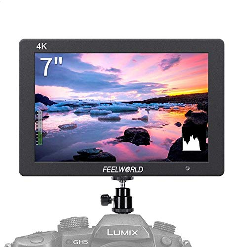 Feelworld T7 7 Camera Field Monitor 4K HDMI Imput Output 1920x1200 IPS Full HD Solid Aluminum Housing DSLR Video Assist with Peaking Focus False Colors (with Battery and Charger)