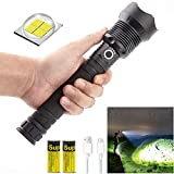 OGPIGGJA Led Flashlight 90000 Lumens Most Powerful 26650 USB Torch Xhp70 Resistant Camping P70 Flashlight