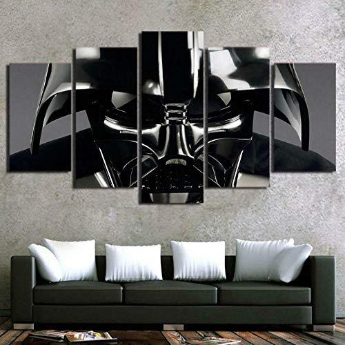 GSDFSD 5 Piezas Película de Star Wars Darth Vader De Arte De Pared Impresión En Lienzo Animal Arte Moderno para Decoración del Hogar Sin Marco