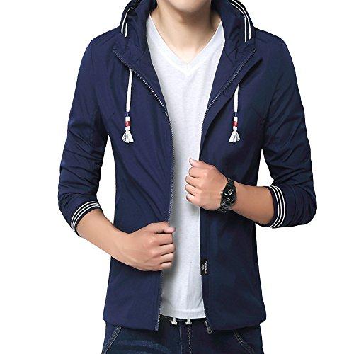 Gladiolus Uomo Manica Lunga Felpa con Cappuccio/Felpa Outwear/Zip Up Cappotto