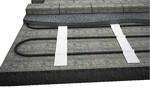 Elektro Freiflächenheizung - verhindern Sie gefährliche Glatteisbildung im Außenbereich, nie wieder Schnee schaufeln, Fläche:5 qm