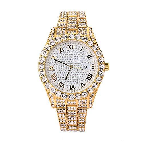 SANDA Relojes De Pulsera,Reloj para Mujer Reloj con Banda de Acero Reloj para Mujer Nuevo Reloj para Mujer-Amarillo