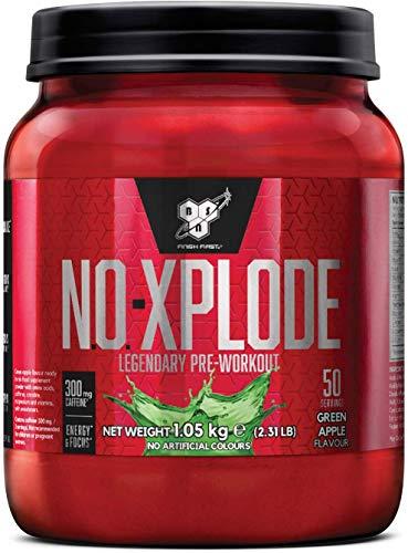 BSN N.O.Xplode Formula Pre-Workout per il Consumo Prima Dell'Allenamento, 1.05 kg, Gusto Mela Verde, 50 Porzioni
