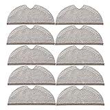 ZYOONG Home Cleaning Top Ofertas 10 paños de limpieza de cobertura completa aptos para aspiradora Roborock S5 S50 S51 S55 S6 S6 MAXV S5 MAX (color gris) (gris)