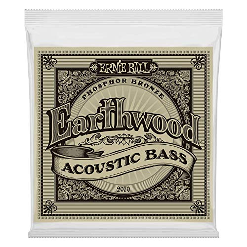 Cordes de basse acoustique en bronze phosphoreux Ernie Ball Earthwood - Calibre 45-95