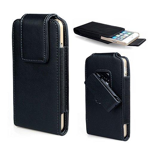 Kunstleder Vertikal Executive Holster Gürtelclip Tasche Schutzhülle für wileyfox Swift 2x/Plus/Spark X/Sony Xperia L1/Xperia XA1/Xperia XZ/BlackBerry Keyone/dtek60/BLU Vivo XL 2/BLU R2/VIVO 6/VIVO 8