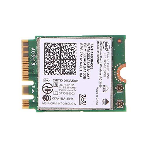 dedepeng Tarjeta Wifi Wirel Adaptador Tarjeta Dual Band Wirel 802.11 AC 3160 NGW NG Bluetoo 4.0 Wifi WLAN Tarjeta Adaptador Pc Wifi Tarjeta Pc