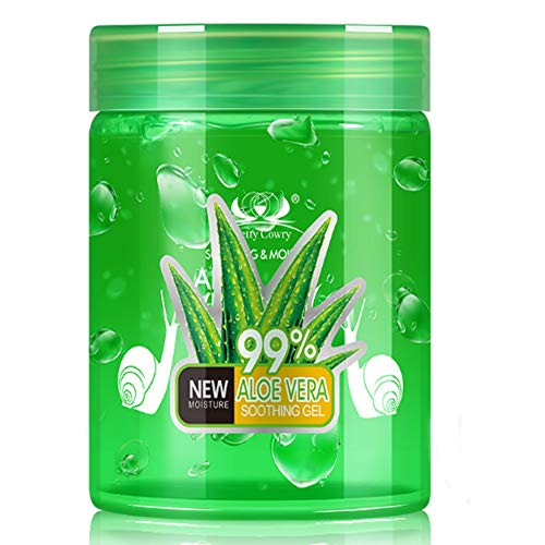 Aloe Vera Gel – Soothing & Hydrating, Rich In Vitamins, Treats Inflammations, Bug Bites And Minor Burns, For All Skin Types, Cruelty-Free & Vegan(250ml)