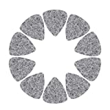 10 Pezzi di Lana in Feltro per Chitarra Plettri per Ukulele Plettri con Placchetta Sottile in Pelle Massiccia Plettri Colorati per Basso Elettrico Acustico 3mm Nero Bianco Grigio(Grigio)