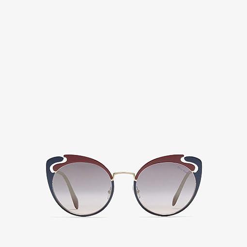 Pale Gold/Garnet/Blue/Pink Gradient Mirror/Silver