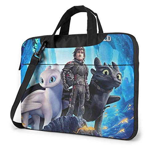 How to Train Your Dragon Shakeproof Waterproof Laptop Messenger Shoulder Bag Case Sleeve Briefcase with Adjustable Shoulder Strap for 13 Inch 14 Inch 15.6 Inch
