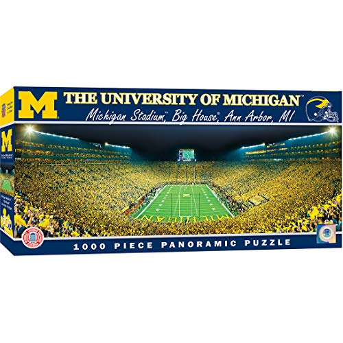 MasterPieces NCAA Panoramics 1000 Puzzles Collection - Michigan NCAA Panoramics 1000 Piece Jigsaw Puzzle