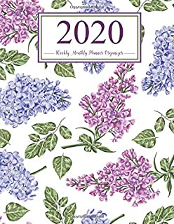 Weekly Monthly Planner Organizer 2020: Lilac Watercolor Floral Calendar (Large 8.5x11) With Two Page Monthly View & Weekly Sheets PLUS To-Do List/Goal ... & Gratitude Pages (Cute Planners for Women)