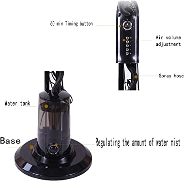 """ADASP 16"""" Oscillating Standing Misting Fan With Water Tank,Whisper Quiet Cooling Pedestal Fan,Negative Ion Humidificater,"""
