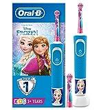 Oral-B Kids Spazzolino Elettrico Ricaricabile, 1 Manico con Personaggi Disney Pixar Frozen, 2...