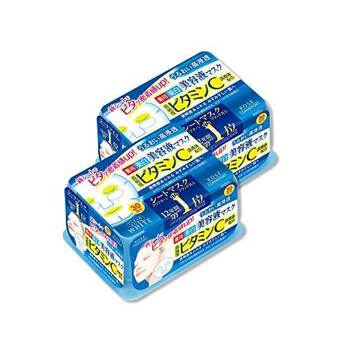 【Amazon.co.jp限定】KOSE クリアターン エッセンスマスク (ビタミンC) 30回 2P+おまけ フェイスマスク (医...