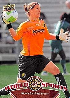 Nicole Barnhart soccer card (Stanford Cardinal) 2010 Upper Deck World of Sports #112
