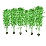 vidaXL Bambú Plantas Artificiales Hogar Decoración Set 6 Natural Verde Hermosa