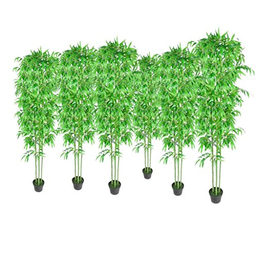 GoodWork4UEu Kunstbambus Heim & Garten Dekoration Künstliche Pflanzen