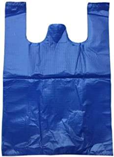 Nobranded Black Garbage Bag Large Thick Plastic Bag Vest Bag Portable Convenient Bag Blue 40 x 60 cm Thicken