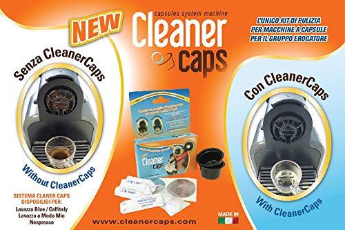 Cleanercaps Lavazza Firma - Kit de 2 cápsulas desincrustantes y antibacterianas + 4 am antical para depósito de agua