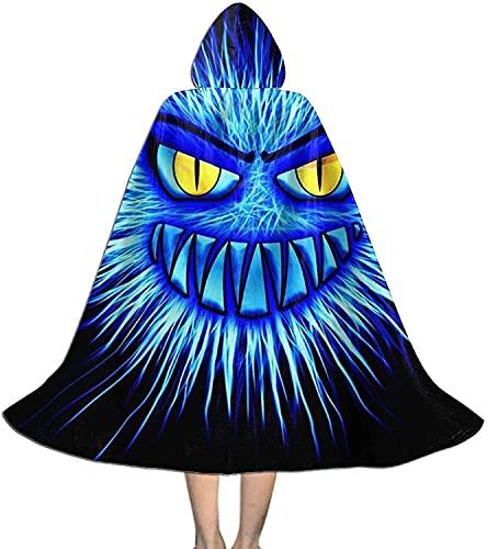KEROTA Monster Devil - Capa con capucha unisex con capucha para Halloween, Navidad, disfraz de bruja de vampiro, disfraz de disfraz para nios, talla grande