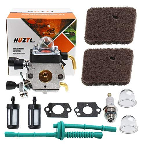 HUZTL C1Q-S97 Carburetor for FS45 FS55R FS55RC FS 45 55R 55RC FS38 FS46 FS55 KM55 HL45 FS45L FS45C FS46C FS55C FS85 FS80R FS85R String Trimmer Weed Eater Carburetor Parts with Fuel Line Kit