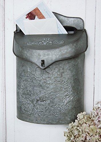 Briefkasten, Postkasten aus Zink Metall im charmantem Landhaus Shabby Chic Stil