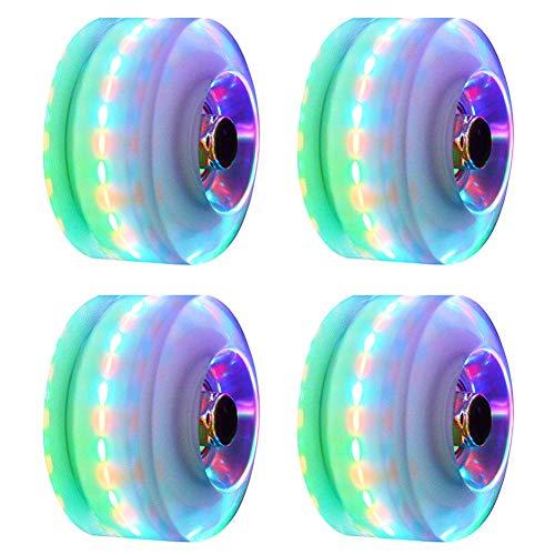 Luminosi Skateboard Ruote, 4PCs / Set Luce Up Skateboard Ruote Quad Roller Skate/Skateboard Ruote Per Doppio Fila Skate E Skateboard - Colorati