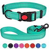 Reflective Dog Collar and Leash Set with Safety Locking...