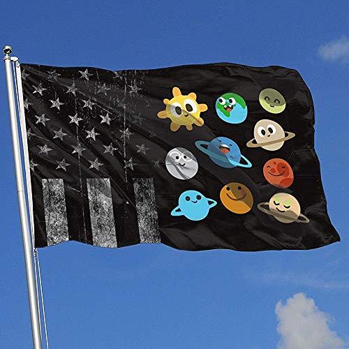 Elaine-Shop Outdoor Flags Abgenutzte USA Flagge Nettes Sonnensystem 4 * 6 Ft Flagge für Wohnkultur Sport Fan Fußball Basketball Baseball Hockey