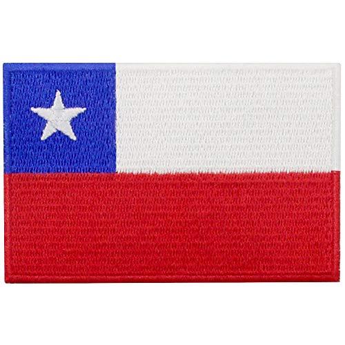 EmbTao Aufnäher mit Chile-Flagge, bestickt, zum Aufbügeln oder Aufnähen