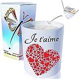 AG Artgosse Bougie Bijoux • Monoï de Tahiti • Cristal de Swarovski éléments pour Femme • Ambiance de fête d'anniversaire • Coffret Cadeau (Envol de Coeurs Pendentif)