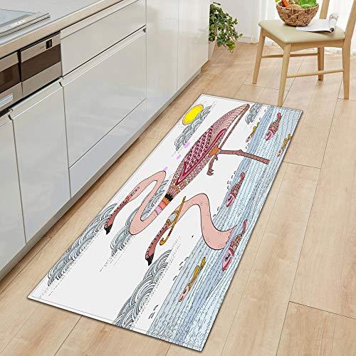 Tappeto lungo corridoio Off-white40 cm x 120 cm zerbino interno cucina tappeti antiscivolo tappetino comfort tappetini multiuso per bagno o postazioni di lavoro
