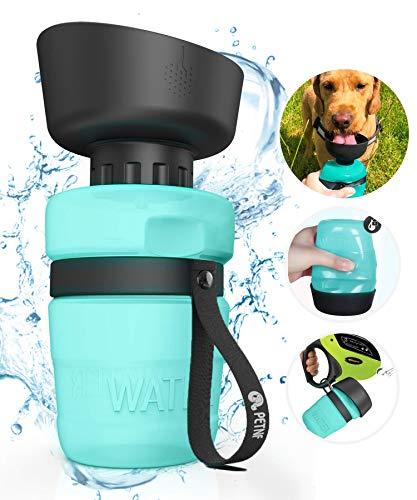 Portable Dog Water BottleUpgraded 2 in 1 Pet Travel Water Bottle and BowlLeakproof Pet Drinking Bottle for Dog Cat Outdoor Travel WalkingLightweight Large Capacity Pet Water Bottles 18oz BPA Free
