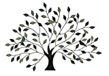 Special T Imports Metal Tree with Birds Wall Art in Blue, Brown & Cream Colors