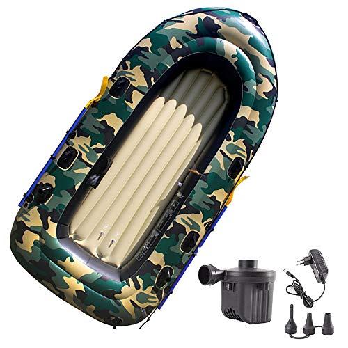 Heavy Duty aufblasbares Boot für Erwachsene 270x145x38cm Tragbarer Raft 4 Person 350kg Cap/PVC Aufblasbare Dingy Boot Kajak für Wassersport Fischen oder Spielen auf Seeflüsse