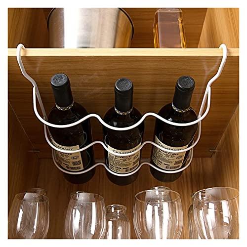 letaowl Estantería de Botellas Organizador de Nevera Almacenamiento de Cocina Estante de Estante refrigerador Botella de Cerveza Botella de Vino Titular de Vino Organizador de Armario Estantes