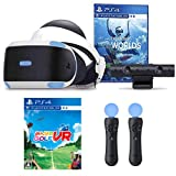 """【プライムデー特別価格 PS VR エキサイティングセット】PlayStation VR""""PlayStation VR WORLDS""""同梱版 + みんなのGOLF VR + PlayStation Move モーションコントローラー2本 セット"""