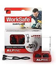 Alpine WorkSafe oordopjes voor Klussen & werken - Geluidsbescherming voor doe-het-zelvers en professionele vakmensen - Uitneembaar met handschoenen - hypoallergeen en herbruikbaar - Met koord