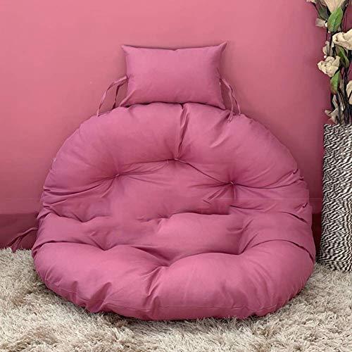 WYJW zitkussen voor hangstoel, dik, zonder standaard, comfortabel kussen voor schommelstoelen, hangleuningen met kussen geel gember D105 cm, kleur: roze, maat: D105 cm (41 kussens