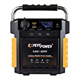 ExpertPower S400 Lithium Portable Power Station,386Wh Solar Generator with 400W AC Inverter (800W Peak), USB, 12V DC Output, 110V...