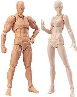 Duomu 2 Pcs/Set Art Mannequin Set Light Body Chan & Kun PVC Movebale Action Figure Model for SHF Version 2.0 Gifts