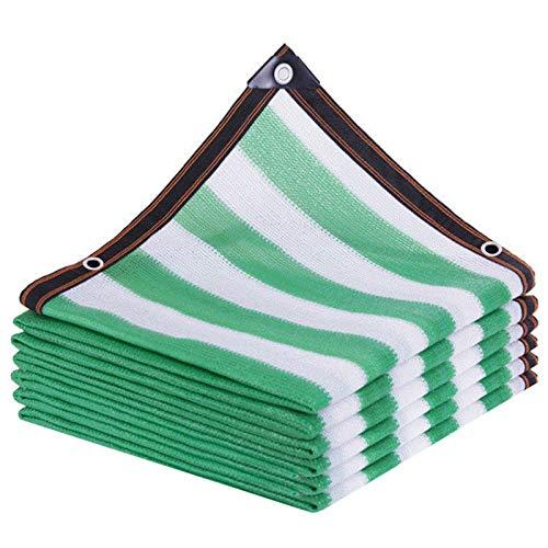YYQ Filet D'Ombrage Perméable Vert-Blanc Toile de Protection Solaire PE Tissu 2X3M 2x5m,pour Serre/Pool Spa/Couverture végétale,Personnalisable Taille