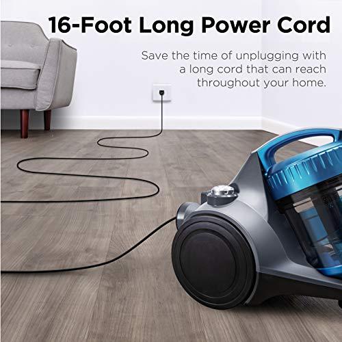 Eureka WhirlWind Bagless Canister Vacuum Cleaner, Blue