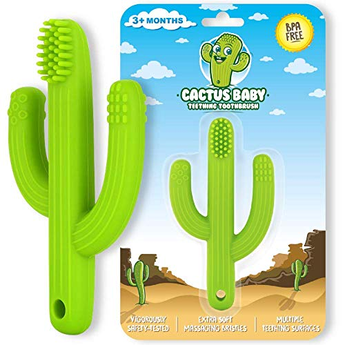 Cactus Baby Teething Toys for Newborn Infants and Toddlers - Self-Soothing Pain...