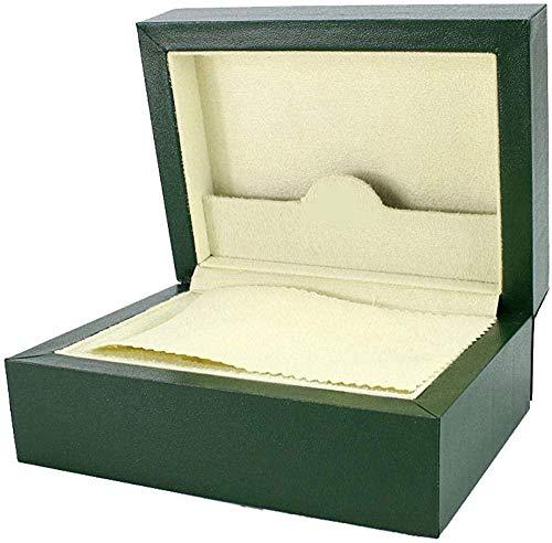 MMYNL Caja de Reloj de Madera Organizador cosmético Caja de Reloj con Tapa Caja de Embalaje de joyería Caja de Regalo Verde 17.8 * 12.8 * 7.5cm